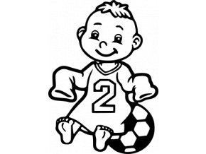Fotbal - miminko chlapeček fotbalista