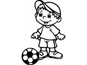 Samolepka - Fotbal - malý fotbalista San Diego