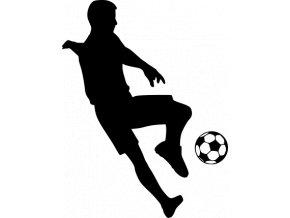 Samolepka - Fotbal - fotbalista zpracování míče