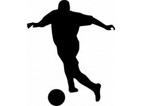 Samolepka - Fotbal - silueta fotbalista záložník přihrávka
