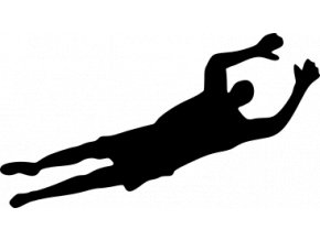 Samolepka - Fotbal - silueta fotbalista Brankář v akci