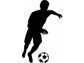 Samolepka - Fotbal - fotbalista vedení míče