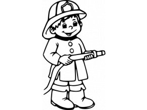 Samolepka Hasiči - Kluk hasič