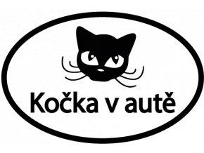 Samolepka - Kočka v autě