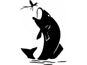 Samolepka - Hladová ryba