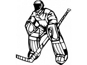 Samolepka - Hokejový brankář