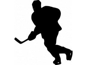 Samolepka - Hokejista útočník