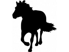 Samolepka - Silueta koně