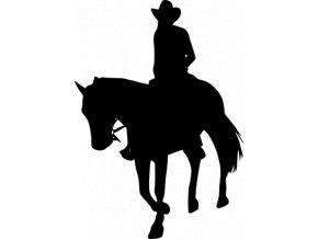 Samolepka - Jízda na koni