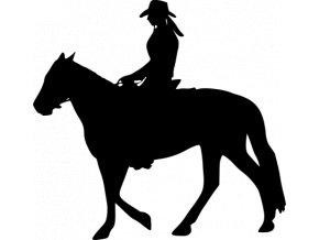 Samolepka - Dívka na koni