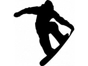 Samolepka na auto - Snowboarding