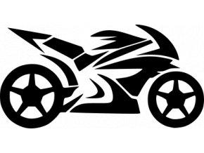 Samolepka na auto - Motorka