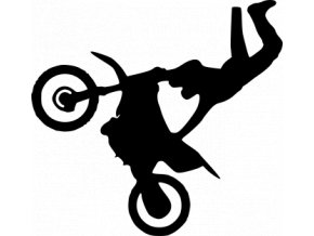 Samolepka na auto - Freestyle motocross