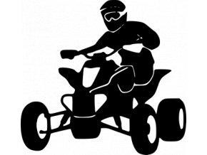 Samolepka na auto - Čtyřkolka