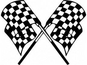 Samolepka na auto - Cílové praporky