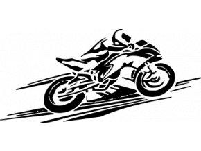 Samolepka na auto - Závody na motorce