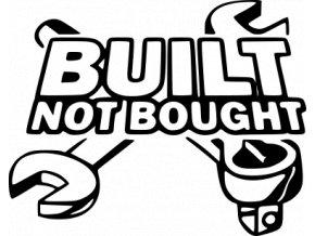 Samolepka na auto - Build not bought