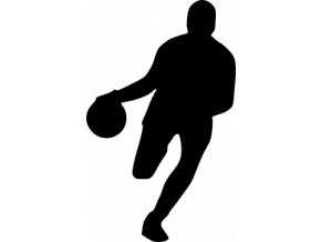 Samolepka na auto - Basketball dribling