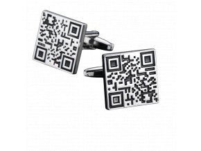 Manžetové knoflíčky QR Code