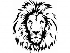 Samolepka lví hlava
