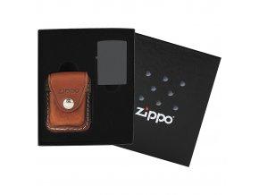 Zippo dárková krabička s hnědým pouzdrem 44065