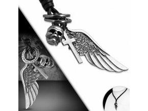 """<img src=""""www.gravon.cz/nahrdelnik.jpg"""" alt=""""Pánský Kožený náhrdelník Lebka a kříž"""">"""