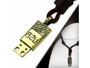 """<img src=""""www.gravon.cz/nahrdelnik.jpg"""" alt=""""Pánský Kožený náhrdelník USB"""">"""
