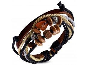 """<img src=""""www.gravon.cz.cz/náramek.jpg"""" alt=""""Kožený náramek, barevné provázky s korálky Bali FWB124"""">"""
