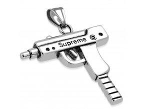 Přívěsek automatická zbraň UZI chirurgická ocel