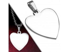 Přívěsek srdce chirurgická ocel PAC463 + řetízek