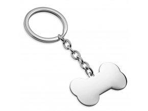 Přívěsek na klíče psí kost
