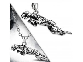 Přívěsek skákající Leopard chirurgická ocel PCS500