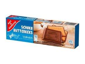 GG máslové sušenky s mléčnou čokoládou 125g