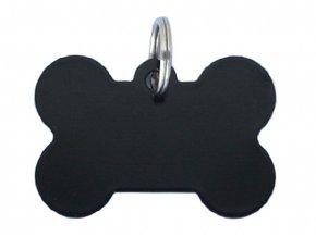 psi známka kost černá