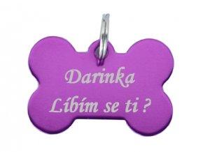 psi známka kost fialová
