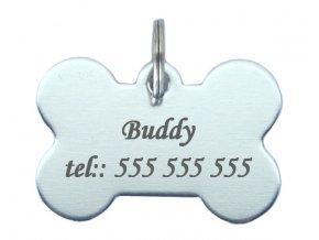 psí známka kost stříbrná