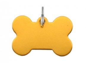 Známka pro psa zlatá kost s rytím