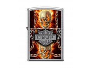 Zippo Harley Davidson Skull 7376