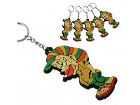 Gumová klíčenka Rastafarian