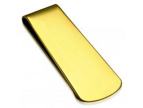 Spona na bankovky zlatá chirurgická ocel SCY101