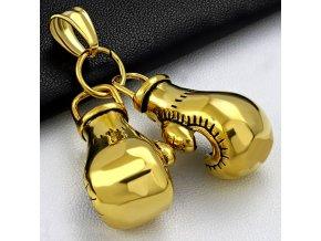 Přívěšek z chirurgické oceli boxerské rukavice zlaté PMX508