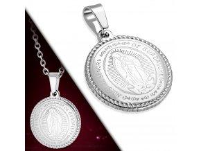 Přívěsek medailonek Panna Marie Guadalupská chirurgická ocel POK390