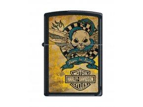 Zippo Harley Davidson Black Matte