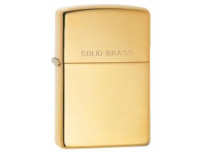 Zippo Solid Brass 24001