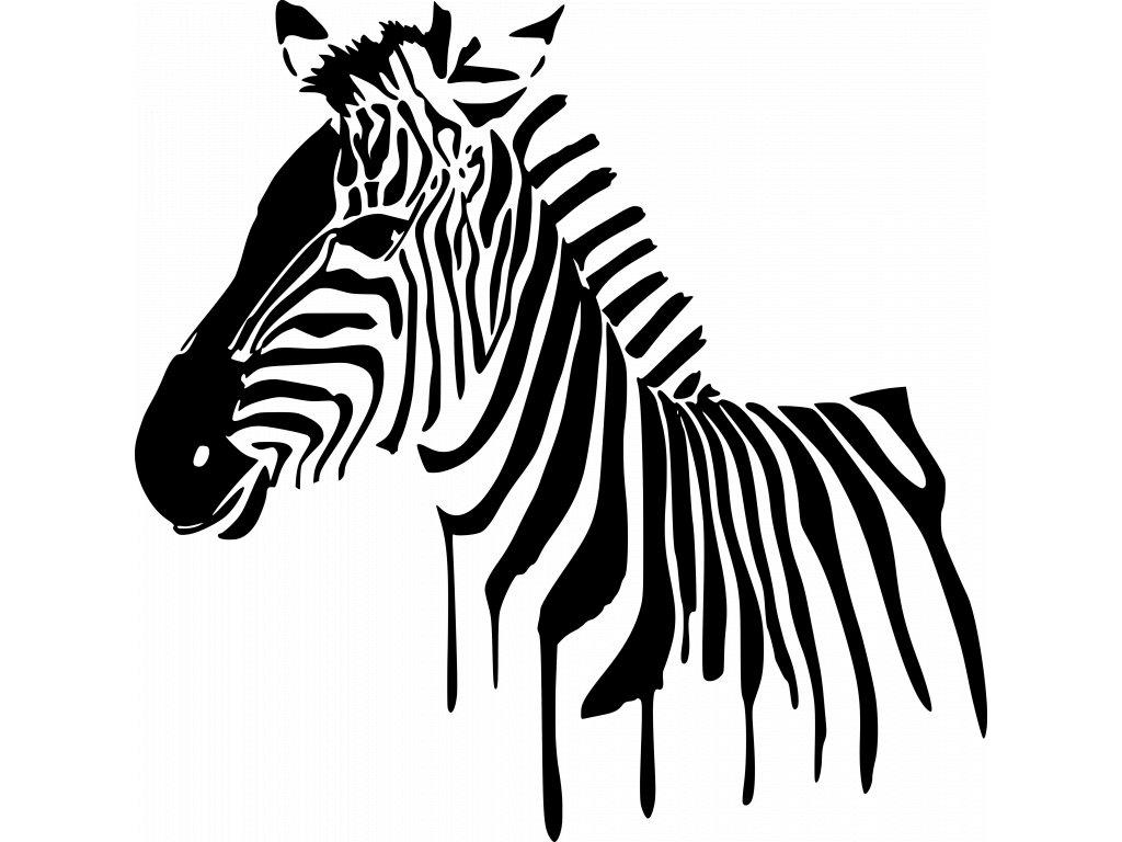 Samolepka na zeď Zebra Barva: Černá, Rozměry samolepky ( šířka x výška ): 55 x 54 cm
