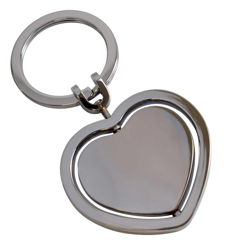 Přívěsek na klíče ve tvaru srdce + možnost gravírování