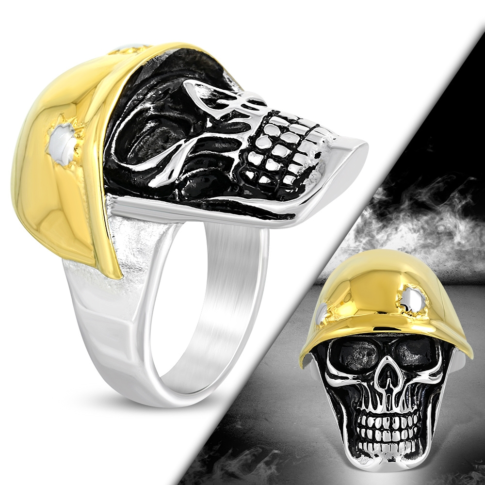 Prsten lebka chirurgická ocel RMT869 Velikost prstenu: 12