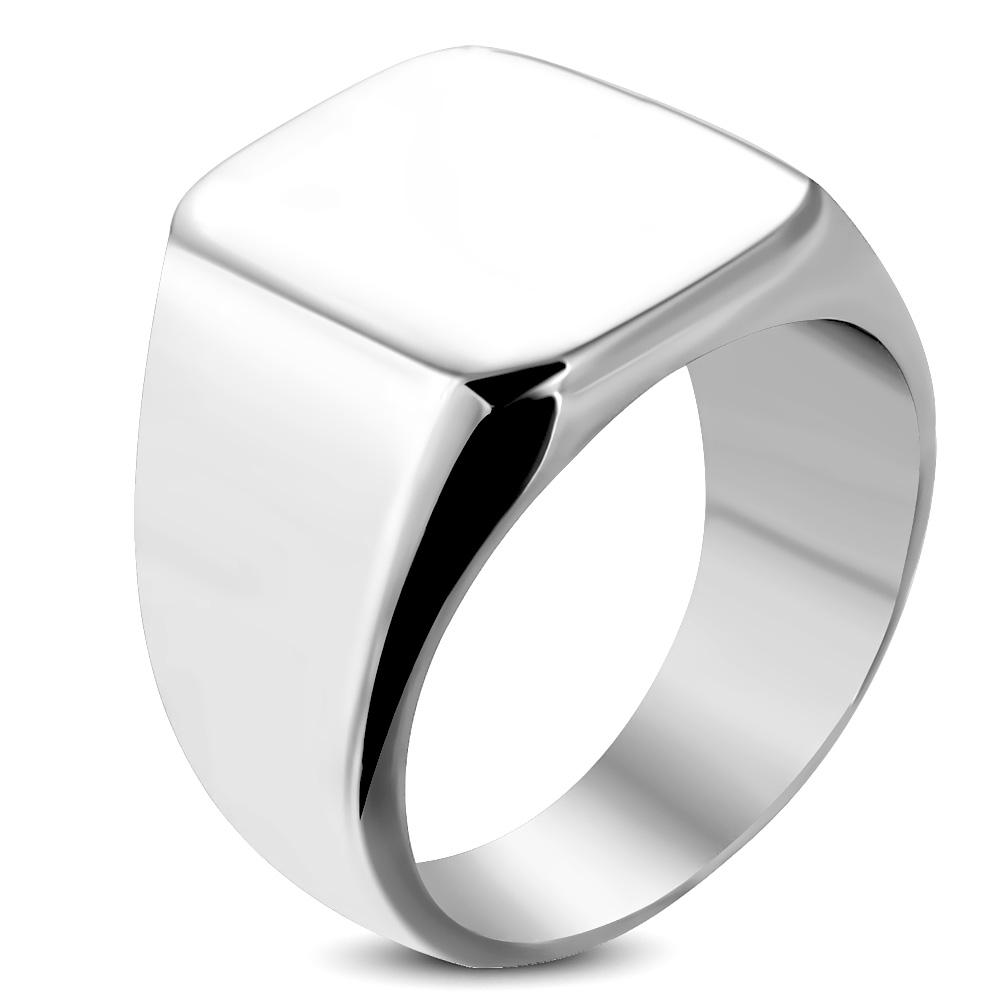 Prsten s plochou chirurgická ocel RMT038 Velikost prstenu: 7