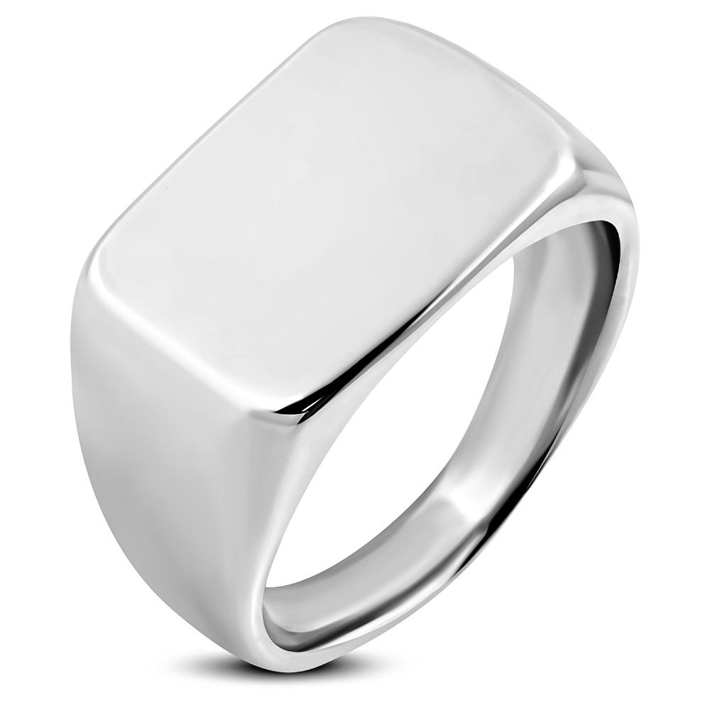 Prsten s plochou chirurgická ocel RMT730 Velikost prstenu: 6