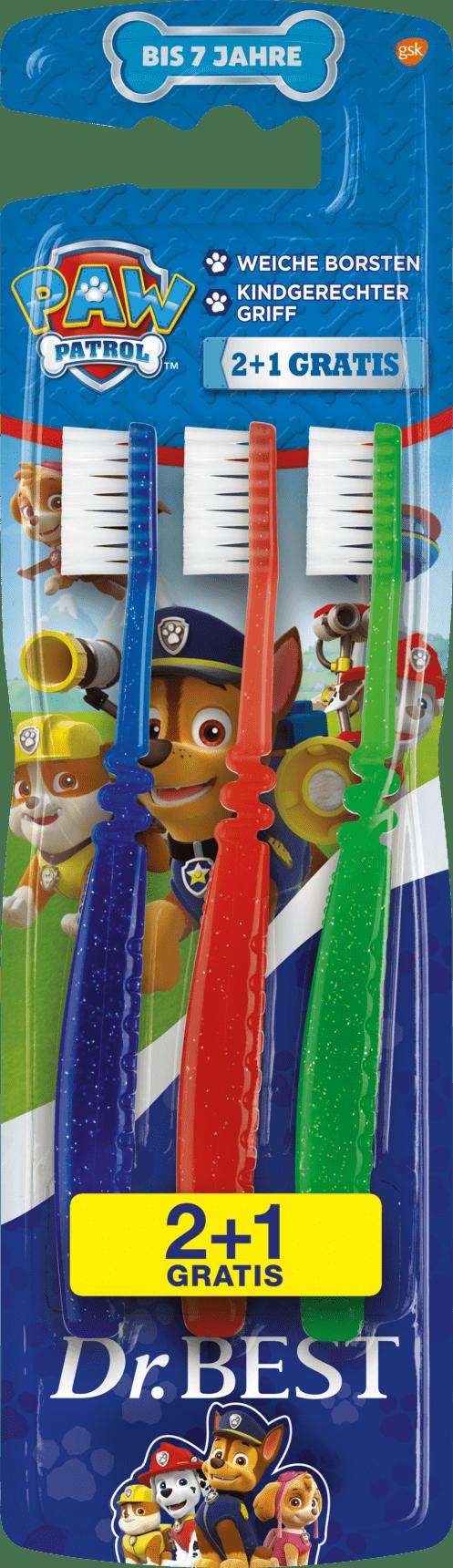 Zubní kartáčky dětské Tlapková patrola 2+1 zdarma